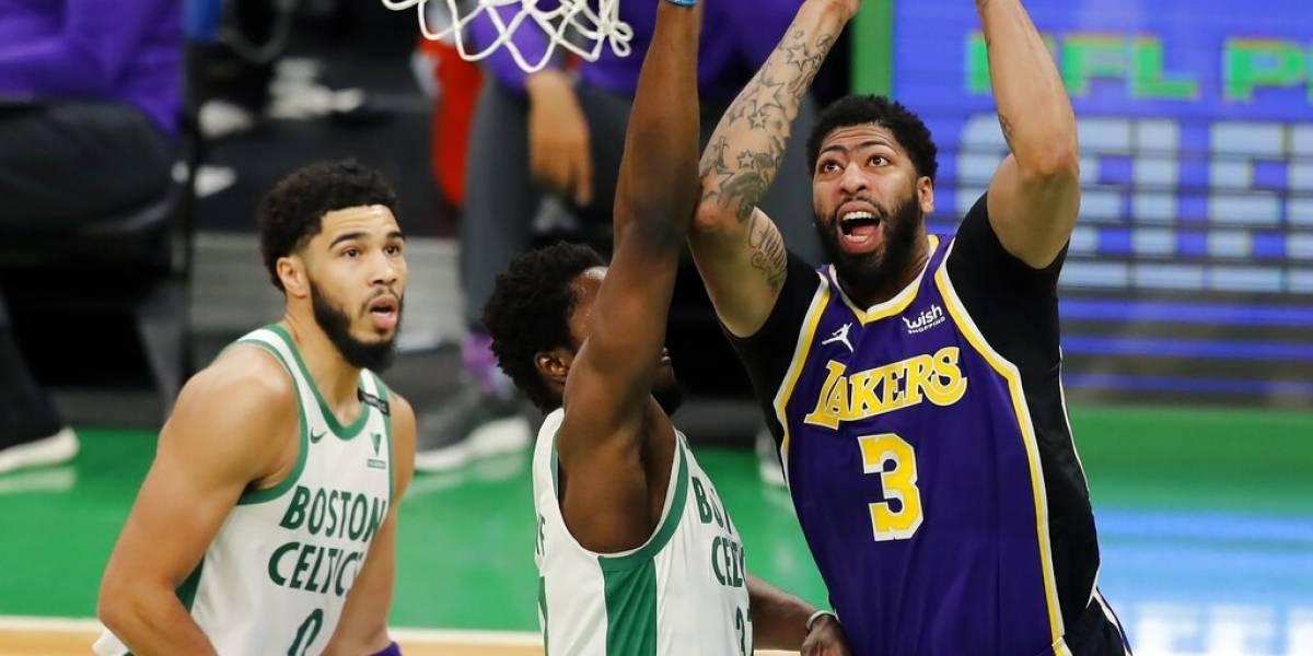 Davis consigue 27 puntos en triunfo de Lakers sobre Celtics
