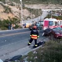 Una persona falleció tras un accidente de tránsito en la vía Calacalí - La Independencia