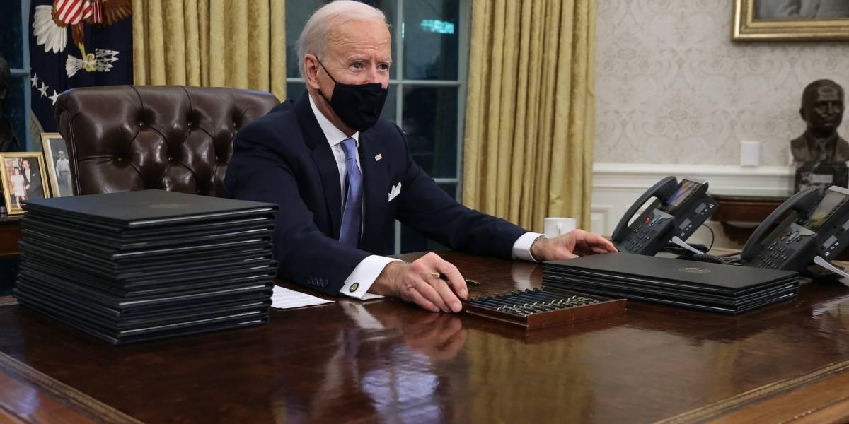 Estas son las diferencias entre la decoración del Despacho Oval de Biden y Trump