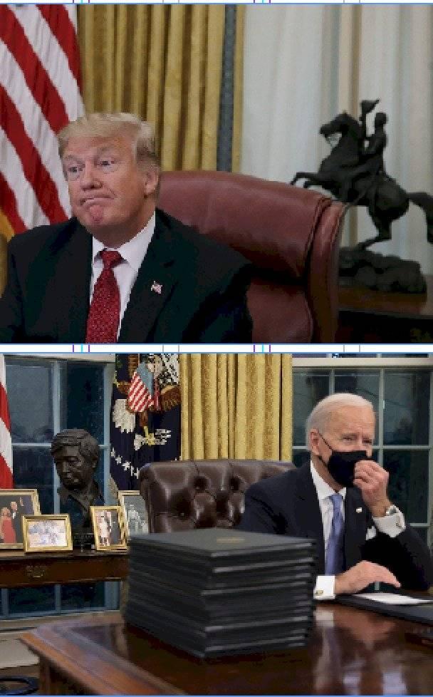 Biden y Trump