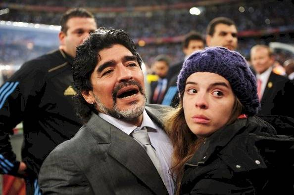 Maradona y su hija Dalma