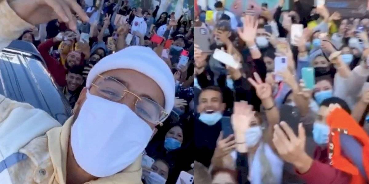 ¡En plena pandemia! Maluma convoca a una multitud de fanáticos y llega la policía