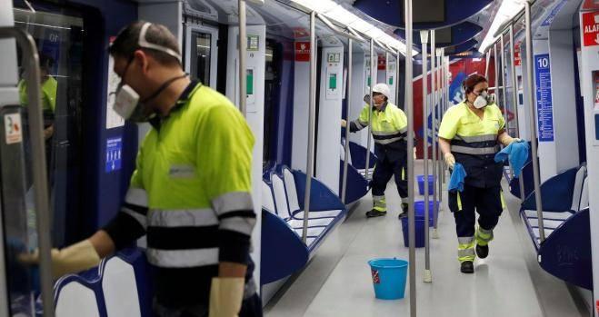 Sanitización Metro de Nueva York