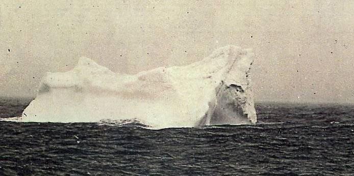 Iceberg con el que posiblemente chocó el Titanic