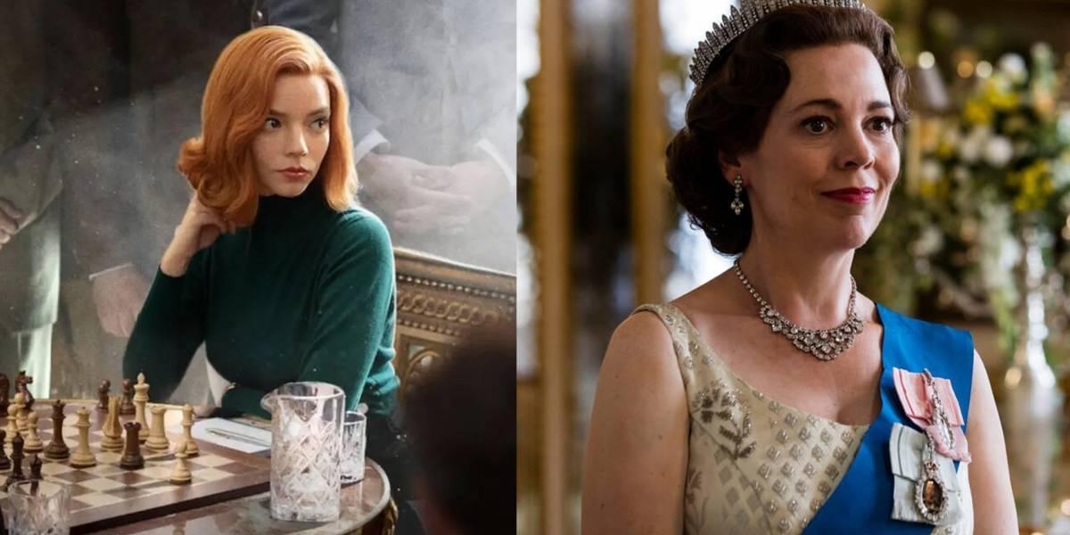 """""""The Crown"""" e o """"Gambito da Rainha"""" são séries indicadas ao Globo de Ouro 2021. Confira a lista completa!"""