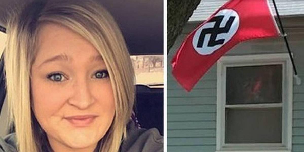 Mulher arranca bandeira nazista de casa, leva tiros de AR-15 pelas costas e processa o atirador