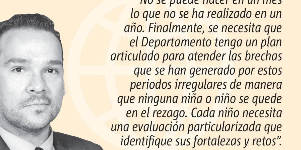 Opinión de Larry Emil Alicea Rodríguez: ¿Regresar a la Escuela?