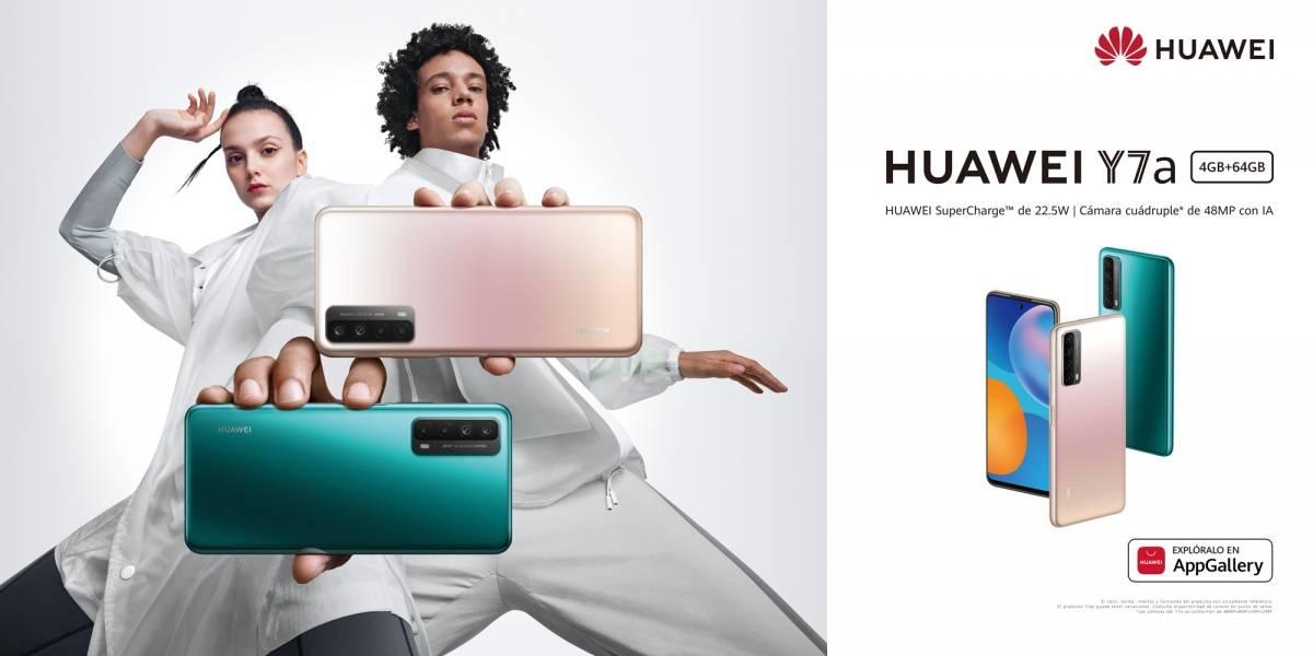Huawei presenta el nuevo Y7a con cámara y batería que sorprenden