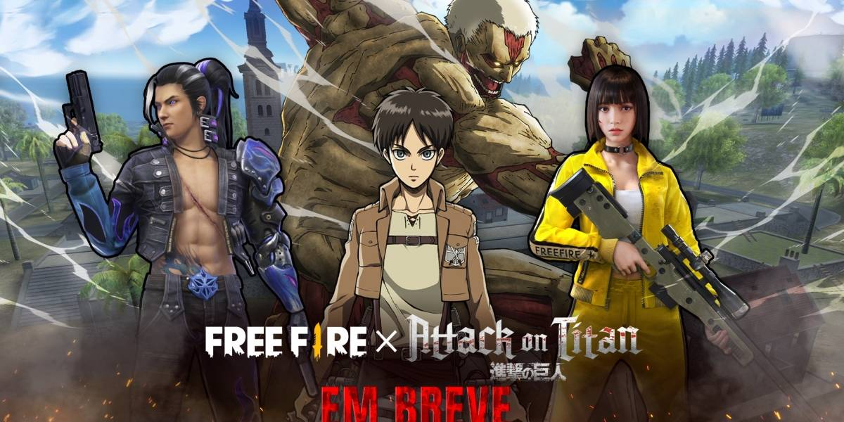 Battle Royale: Free Fire anuncia crossover com Attack on Titan