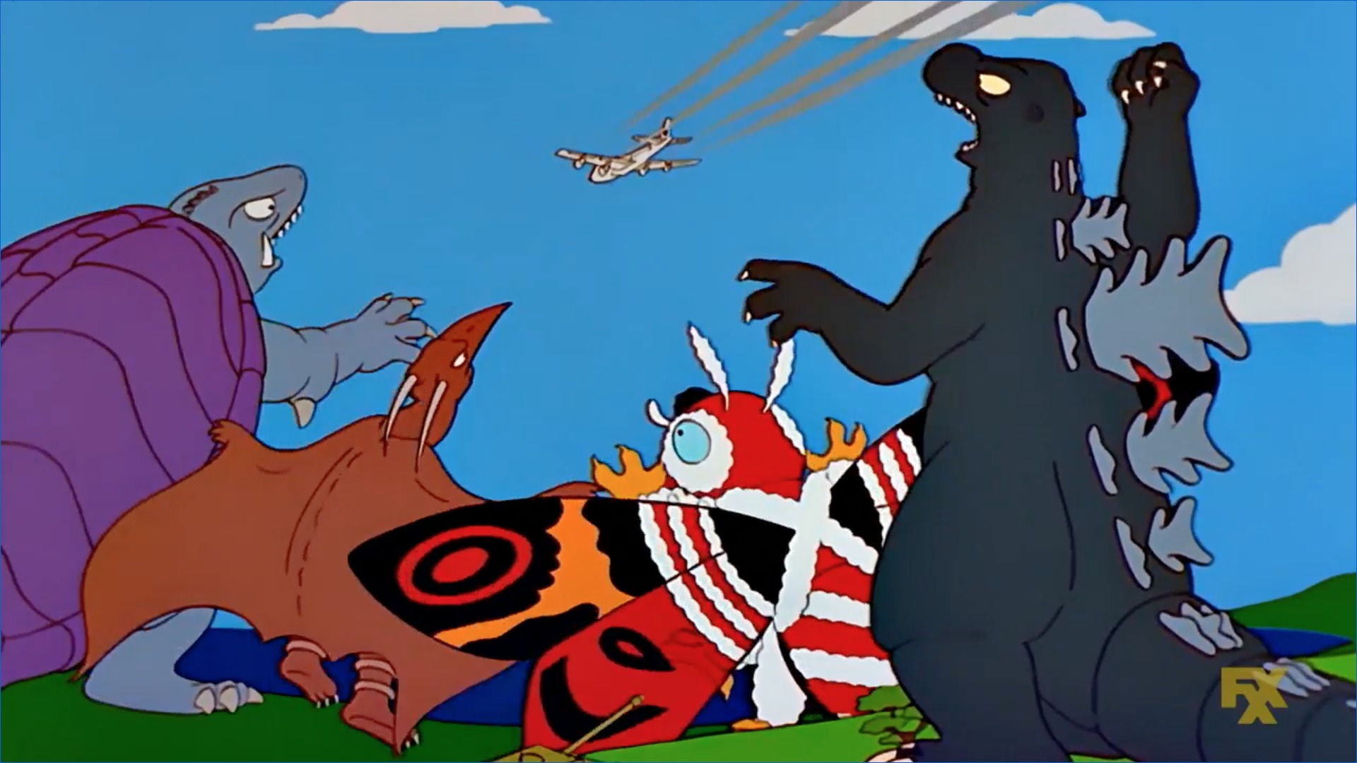 Los Simpson Godzilla canon