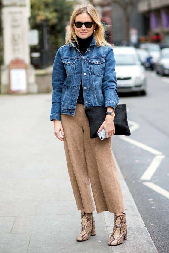 combinar pantalones con zapatos correcta