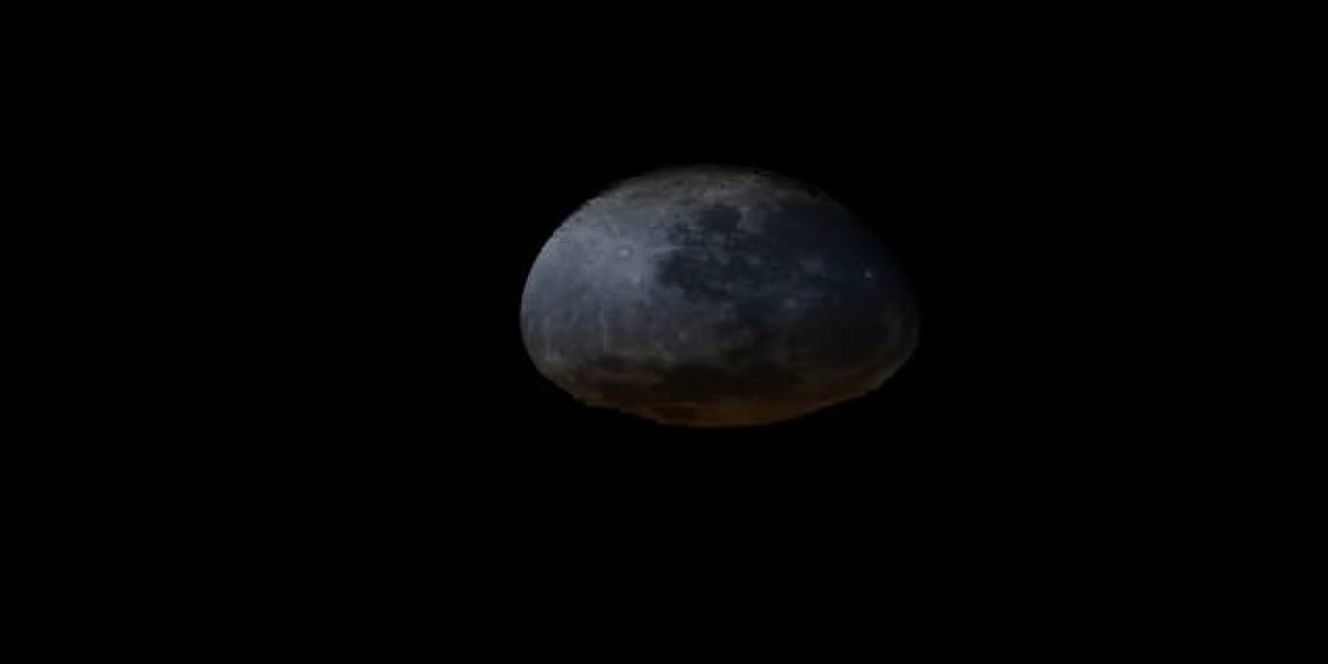 """Espacio: ¿Por qué la Luna """"se desinfla"""" en este video?"""