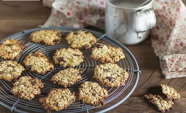 Cookies de plátano maduro y perlitas de chocolate
