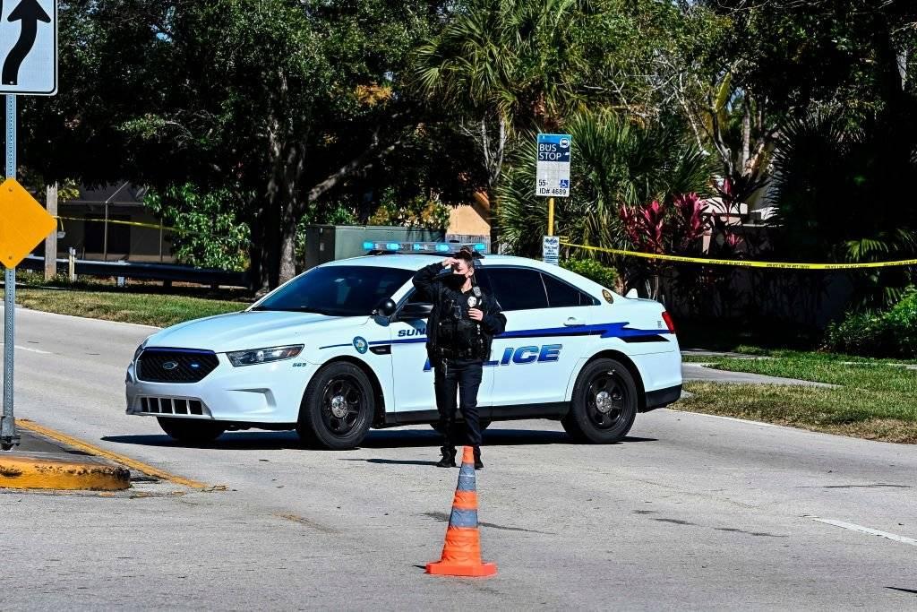 La Policía en la escena del crimen del youtuber.