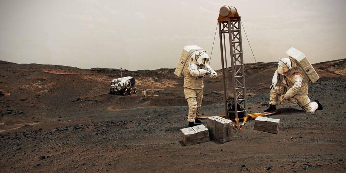 NASA mapea el hielo más accesible para misiones tripuladas a Marte