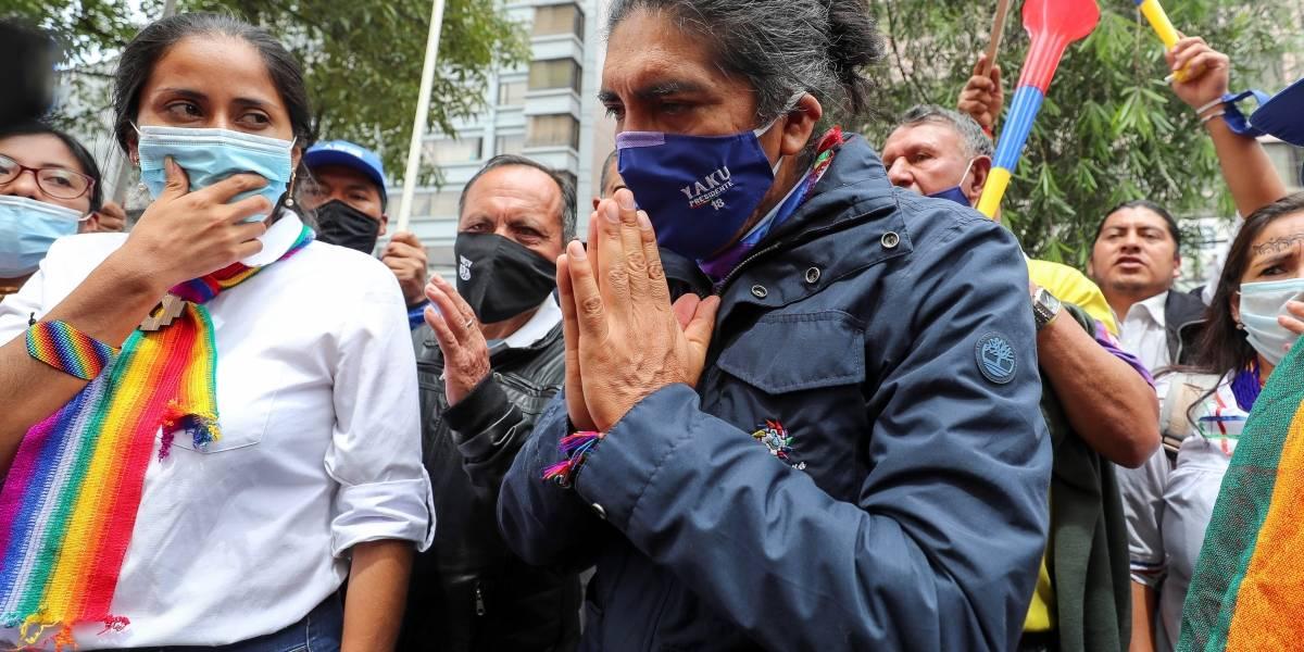 Pachakutik convoca a movilización nacional ante la corta diferencia de votos entre Yaku Pérez y Guillermo Lasso