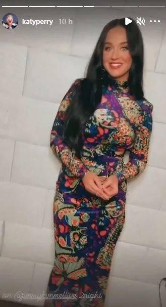 Katy Perry  con cabello negro