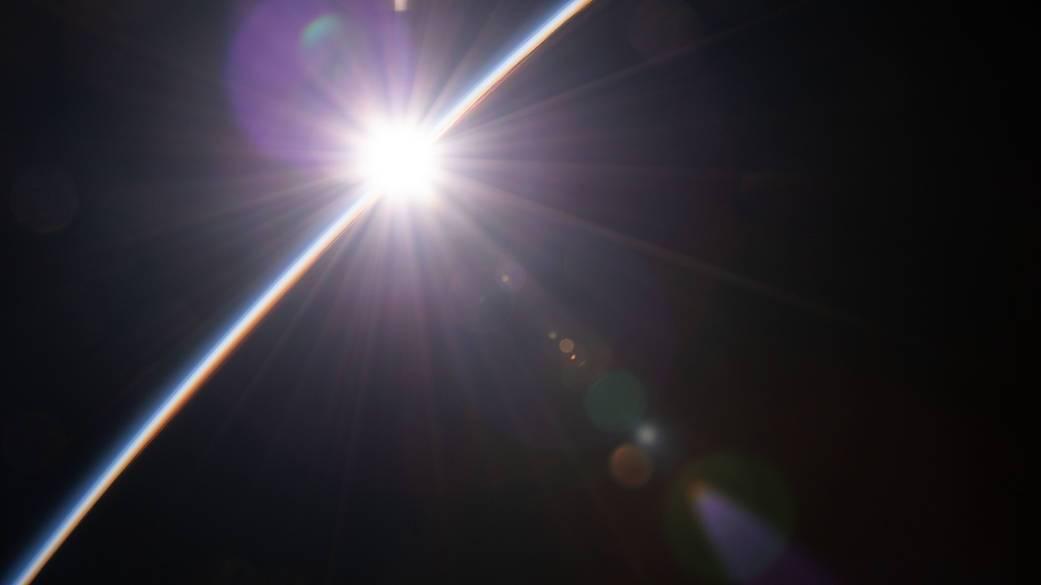 Sol desde la ISS