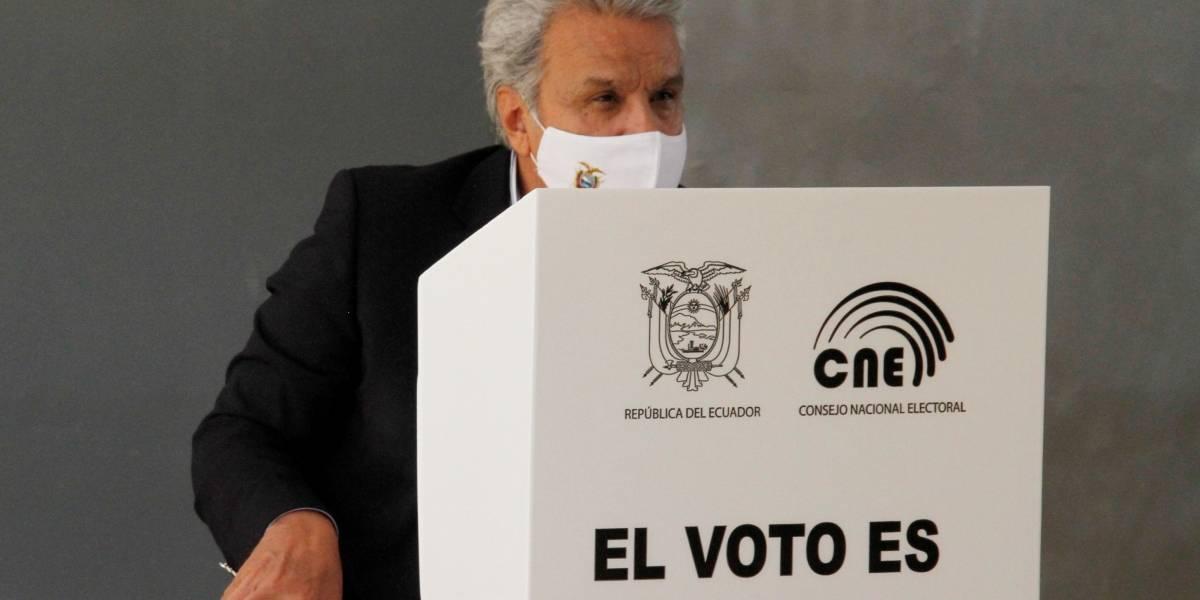 Lenín Moreno llama a la calma y paciencia para los resultados definitivos del CNE