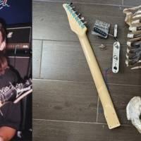 Vídeo: músico constrói guitarra com o esqueleto de seu tio, morto em um acidente de moto