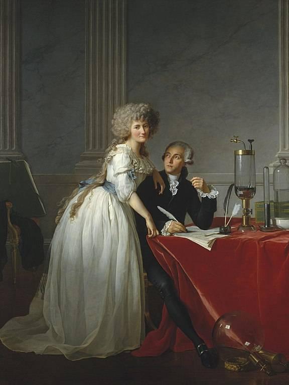 Retrato de Monsieur Lavoisier y su esposa
