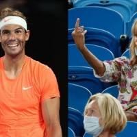 Video: el increíble gesto de desprecio de una espectadora a Rafael Nadal