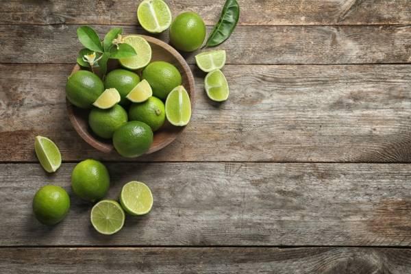 Limón verde frutas