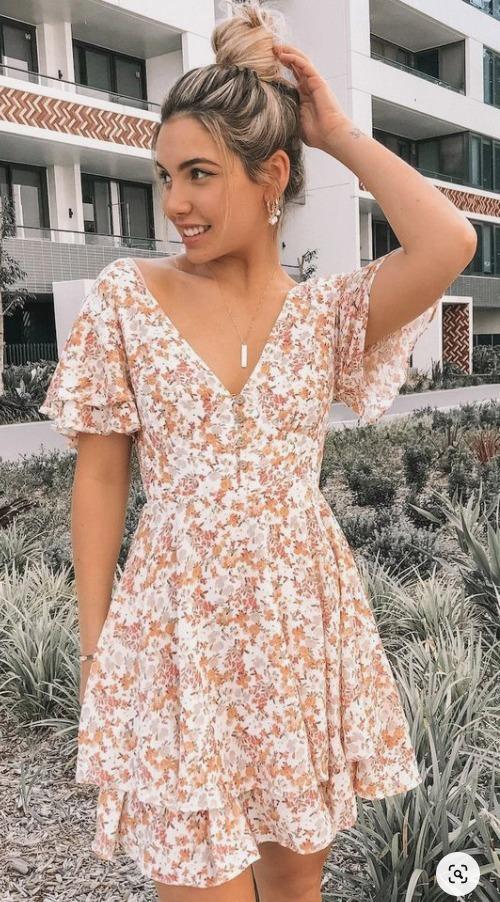 Ideas de vestidos con flores