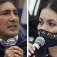 Yaku Pérez confrontó a Diana Atamaint porque no permitió que los medios de comunicación transmitan la reunión con Guillermo Lasso