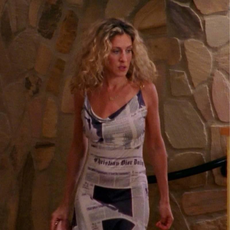 vestido dior periodico carrie
