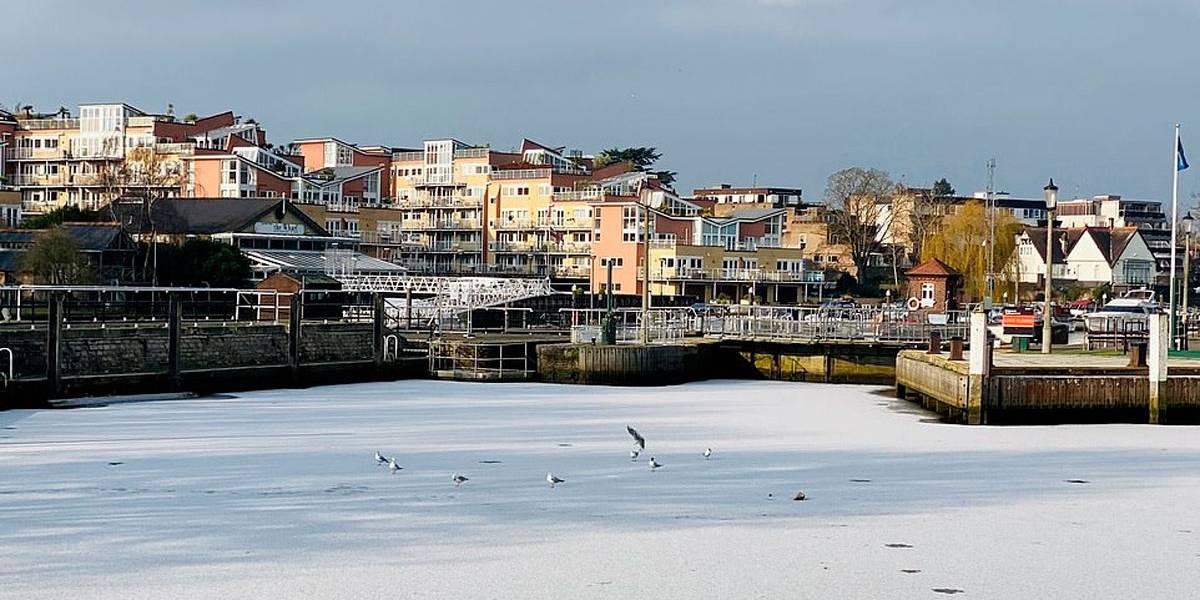 Rio Tâmisa congela pela primeira vez nos últimos 60 anos
