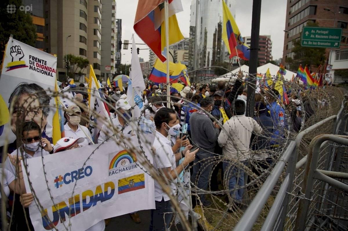 Fuerte resguardo en el CNE Quito