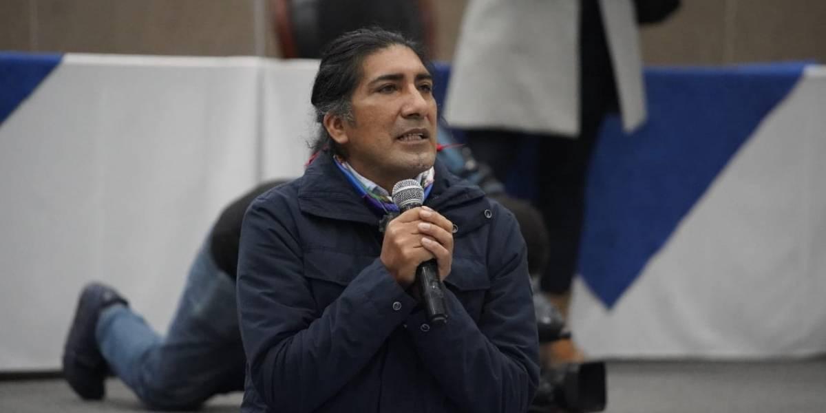 """Yaku Pérez: """"Estamos convencidos que con la transparencia vamos a recuperar muchos votos"""""""