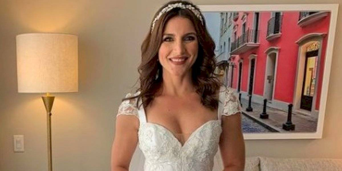 Se casa la reportera Katiria Soto