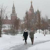 Nevadas récord en Moscú se llegó hasta los -15 grados