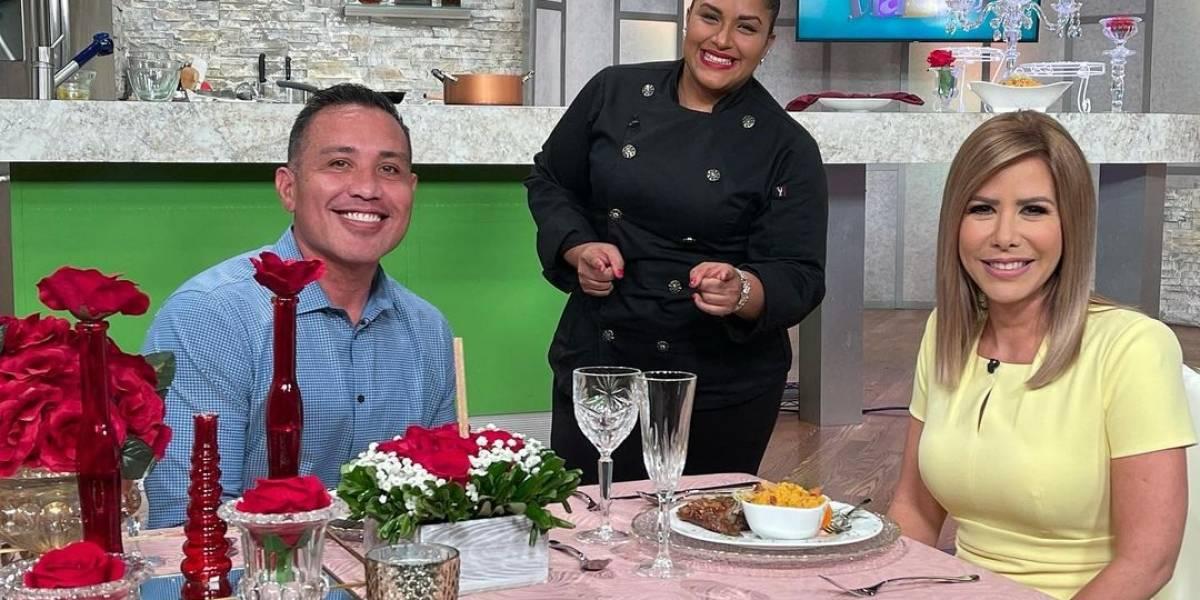 Primer beso de Zugey Lamela y Walter Soto León fue en Telemundo