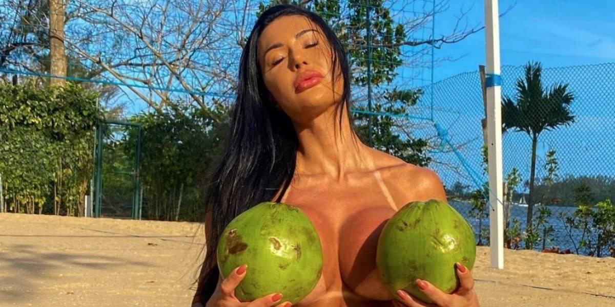 Gracyanne Barbosa compartilha vídeo ousado e causa furor nas redes: 'foca no meu bumbum'