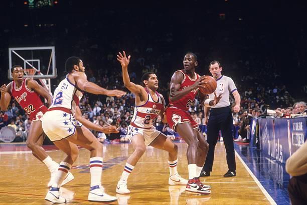 Michael Jordan en 1985.