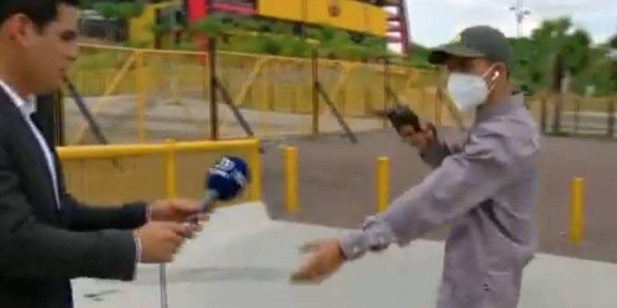 Repórter é assaltado durante transmissão por homem armado