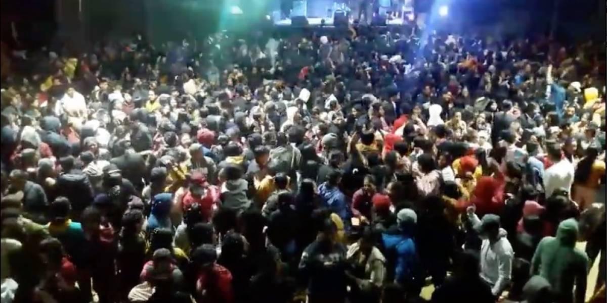 Indignación por un concierto masivo en Saraguro, Loja por San Valentín