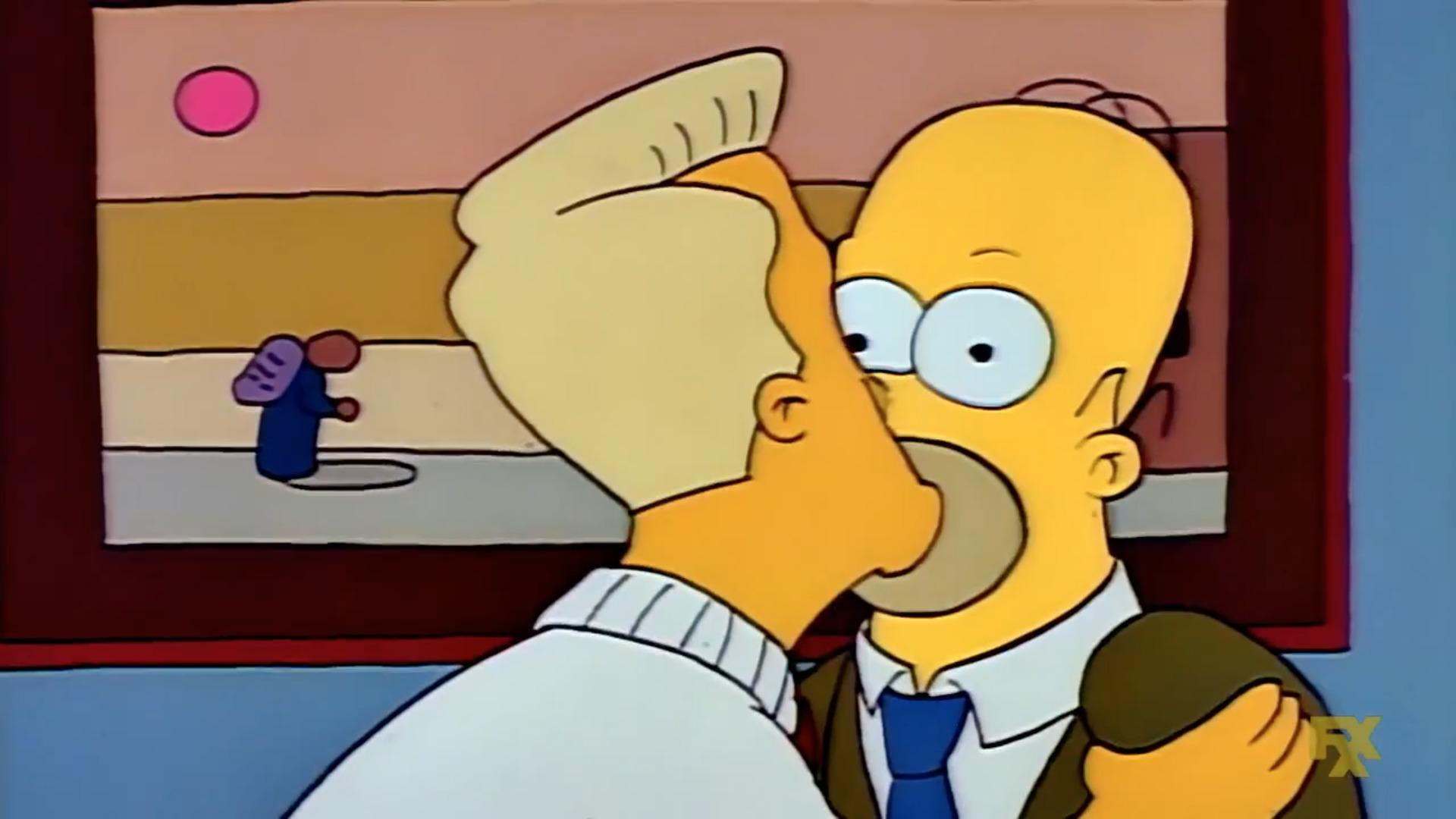 Los Simpson primer beso gay