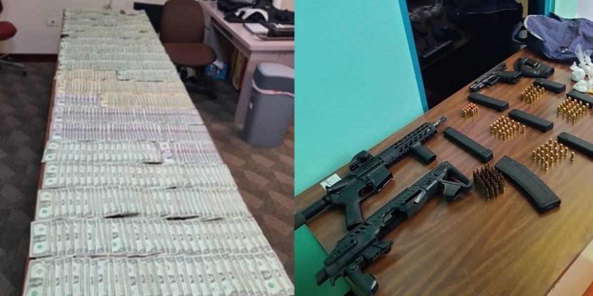 Allanamiento en Ponce deja tres arrestos y una gran cantidad de drogas, armas y efectivo incautados