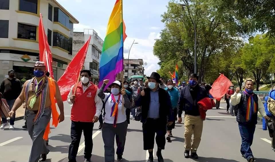 Marcha indígena parte desde Loja