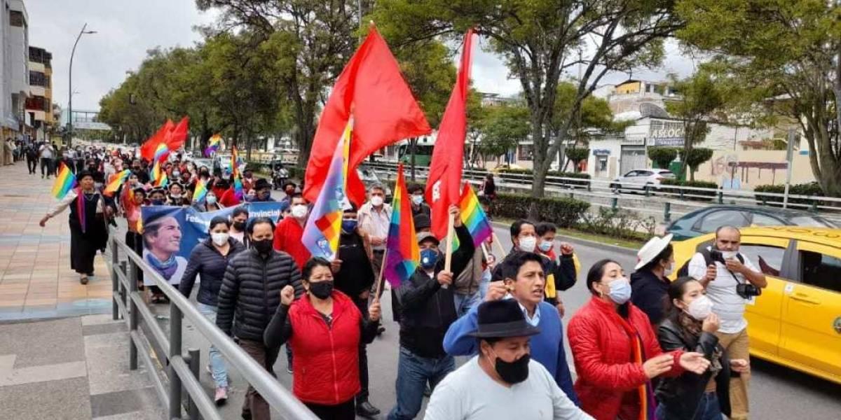 Fotos: Así avanza la marcha indígena que llegará el 23 de febrero a Quito para exigir el recuento