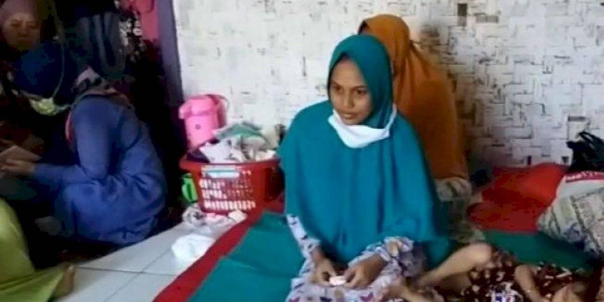 """Mujer en Indonesia asegura haber quedado embarazada por una """"ráfaga de viento"""""""