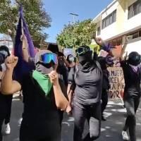 Colectivos feministas protestan en Chilpancingo por la candidatura de Félix Salgado Macedonio
