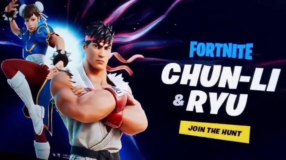 Fortnite Street Fighter Ryu y Chun-Li