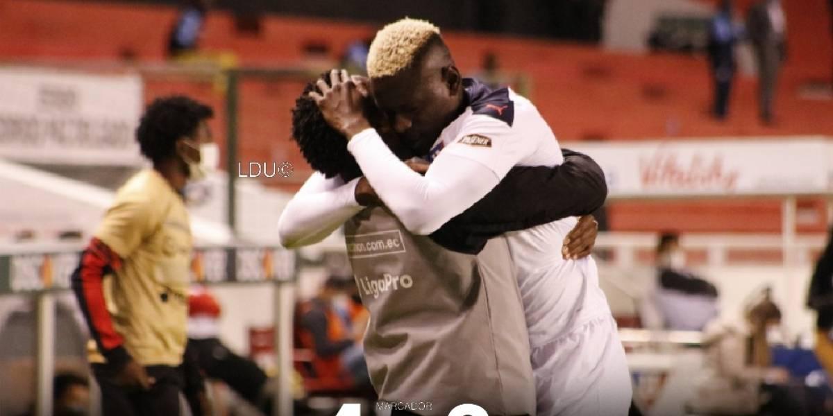 Liga de Quito gana 4 a 2 a 9 de Octubre en el estadio Rodrigo Paz
