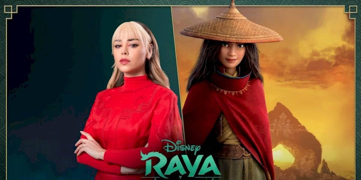 Danna Paola será la voz de 'Raya' en la versión en español de 'Raya and The Last Dragon'