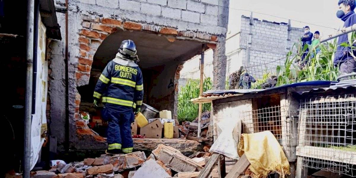 Niño resulta con quemaduras graves tras explosión de tanque de gas al sur de Quito